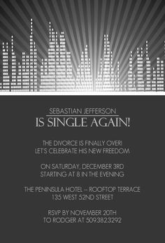 divorce party invitation