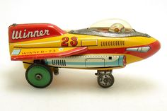 """Winner-23"" Vintage Tin Toy Rocket 