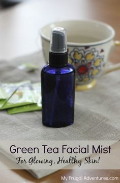 Easy green tea facial mist toner- so refreshing! Spritz daily for healthy and glowing skin