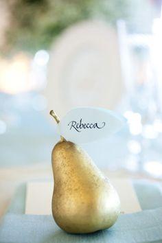 #pears Photography by weddingsbysashagulish.com Flowers by atelierjoya.com Eveny Planning by shannonleahy.com  Read more - http://www.stylemepretty.com/2012/01/27/san-francisco-wedding-by-sasha-gulish-photography/