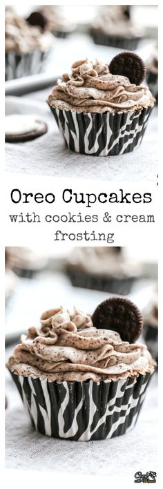 Oreo Cupcakes With Cookies & Cream Frosting - Cook With Manali