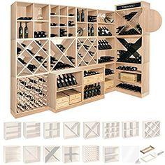 Système d' étagère à vin CAVEPRO, Socle (P 31 cm), du bois recouvert avec de la mélanine, en chêne clair: Amazon.fr: Gros électroménager