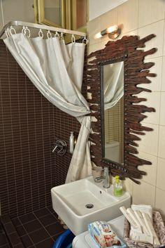 W.C. SHOWER Tinos Greece, Nice View, Vanity, Shower, Mirror, Bathroom, House, Furniture, Home Decor
