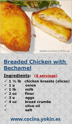 BREADED CHICKEN WITH BECHAMEL - The chicken breaded in this way with bechamel, wins in smoothness and creaminess.