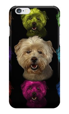 """West Highland Terrier Mix - 8674"" iPhone Cases & Skins by Rateitart 
