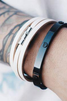 Add stylish and sleek jewelry to your man's wardrobe.