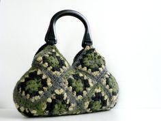 Winter Crochet HandbagFelted Wool Crochet Handbag   by NzLbags, $95.00