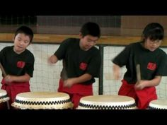"This is a demonstration of traditional Japanese drumming performed by members of the sixth grade class at my daughter's elementary school. This team is called ""TOHO TAIKO CLUB"". Drums are called taiko in Japan where drumming has a long tradition within the spheres of entertainment, religion and warfare. The Japanese have produced several distinc..."