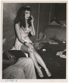 'vicky' by weegee, circa 1956. That's my name don't wear it out
