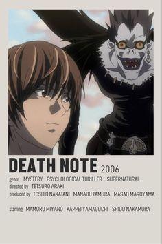 Animes To Watch, Anime Watch, Death Note, Otaku Anime, Manga Anime, Poster Anime, Anime Titles, Anime Recommendations, Minimal Poster