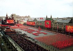 1980s.  Spelling out the acronym for the Communist Party of the Soviet Union.