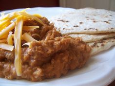 Homemade refried beans – way more flavorful than the paste you're used to seeing