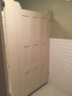 Bathroom Stall Panels bathroom stall, salvaged doors. | gatherings | pinterest