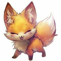 Sho kawaii ♥ ♥ ♥ a chibi fox desuu Anime Chibi, Kawaii Anime, Anime Art, Kawaii Cat, Manga Anime, Images Kawaii, Cute Images, Cartoon Images, Fox Art
