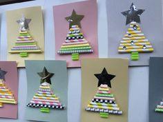 DIY Kerstkaart - hippe kerstkaart zelf maken Christmas Crafts, Christmas Ornaments, Projects For Kids, Advent Calendar, December, Winter, Holiday Decor, Diy, School