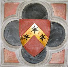 Heraldic tile. No further info :-(