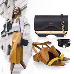 Look de segunda com flat e muito estilo para começar a semana! Pulseira, bolsa e rasteira no shop.miezko.com