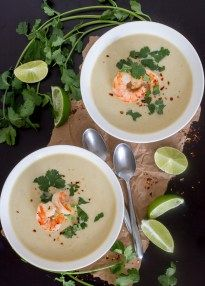 Here's a simple and amazing recipe for a Thai Coconut Curry Cauliflower Soup. Add other veggies or chicken or shrimp if you like. It's fantastic!