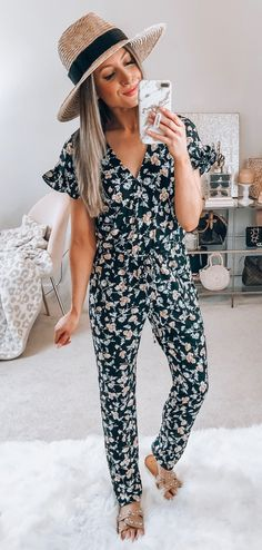 5b45eb6542b 30+ Charming Spring Outfits You Will Love. Floral JumpsuitYoung FashionSpring  Summer ...