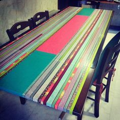 washi tape dining room table