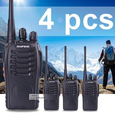 4 unids baofeng bf-888s radio de dos vías de radio uhf 400-470 mhz walkie talkie baofeng transmisor de radio de jamón cb 888 s receptor