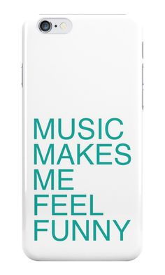 """""""Music Makes Me Feel Funny"""" iPhone Cases & Skins by opul 
