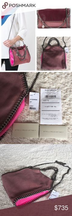 NEW STELLA MCCARTNEY FALABELLA SHAGGY DEER TOTE Authentic. ID371223W9846. Brand new with tags gift receipt, and dust bag. Made in Italy. It can be worn as a shoulder bag, as crossbody bag, and as a clutch for evening. FIRM PRICE. Rose Falabella tote from Stella McCartney featuring a panelled colour block design, a silver-tone chain trim, stitching details, top handles, a silver-tone chain shoulder strap, a top magnetic closure, an internal slip pocket, an embossed internal logo stamp and a…