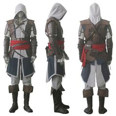 Just in! Assassin's Creed ... Click here http://costumes-etailer.myshopify.com/products/assassins-creed-iv-4-black-flag-edward-kenway-cosplay-costume-whole-set-custom-made-express-shipping?utm_campaign=social_autopilot&utm_source=pin&utm_medium=pin