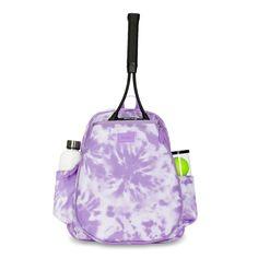 Ame & Lulu Ladies Game On Tennis Backpacks - Lavender Tie Dye