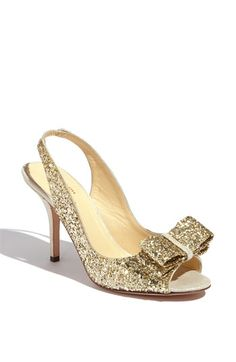 with navy glitter  kate spade new york 'charm' slingback pump available at #Nordstrom