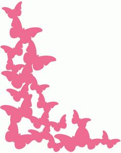 Silhouette Online Store - View Design #60358: butterfly corner