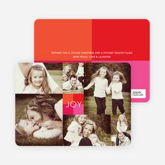 Collage of Joy Multi-Photo Holiday Cards from Paper Culture