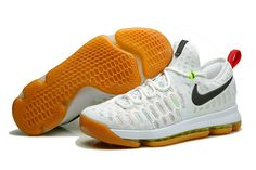 promo code 05167 b1dbd 843392 900 Kevin Durant KD 9 Summer Pack White Multicolor Gum Light Brown  Genuine Nike Sneakers