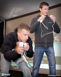 Kasey <3 Kahne & Allmendinger Wii Boxing