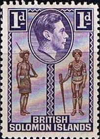 Solomon Island 1939 SG 61 Native Constable and Chief Fine Mint Mint Used SG 61 Scott 68 Other British British Commonwealth Stamps here