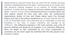 Adrienne Rich - I wish I'd read this, learned this, 20 years ago....
