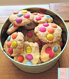 A deliciously healthy smartie cookie recipe. This is the perfect almost sugar free cookie recipe for kids.