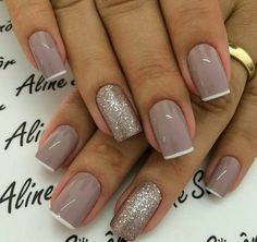 Gelish Nails, Nude Nails, My Nails, Elegant Nail Designs, Nail Art Designs, Glamour Nails, Nail Designer, Nails Only, French Tip Nails
