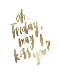 Friday's almost here!! What are everyone's plans for the weekend??