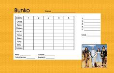 Bunko game card