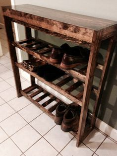 This would be lovely in my closet by the garage. Tabletop Shoe Rack by BoscoTheDog on Etsy