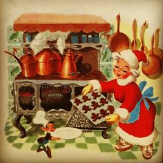 Illustration from Santa's Toy Shop, published in 1950.