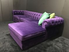 Purple Sofa, Chesterfield, Lounge, Couch, Furniture, Home Decor, Chair, Airport Lounge, Decoration Home