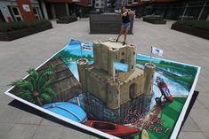 Joe Hill Art - 3D Pavement Art