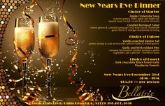 New Years' Eve Dinner menu featured in 2014 - Bellatrix Restaurant & Classic Club golf course - Palm Desert, CA Feng Shui, Happy New Year Hd, New Years Eve Dinner, Jewelry Candles, New Year 2020, Birthday Quotes, Save The Date, Wedding Events, Champagne