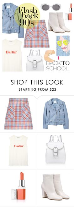 """Go Back-to-School Shopping!"" by s-best ❤ liked on Polyvore featuring Miu Miu, MANGO, Rebecca Minkoff, Anne Klein, Clinique, BackToSchool, 90s and polyvorecontest"