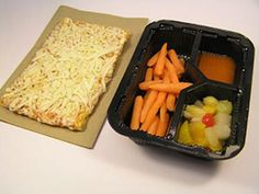 Rachel - This lunch is: Tony's Cheese Pizza, Fresh Carrots, French Dressing, Peaches