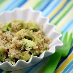 Brown Rice and Avocado Salad with Vietnamese Dressing (omit fish sauce to make it vegan!)