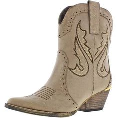 a5338603121c1 Metallic embroidered details lend a dash of modern to this old west boot.