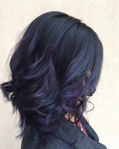 oil slick hair - I love this colour!